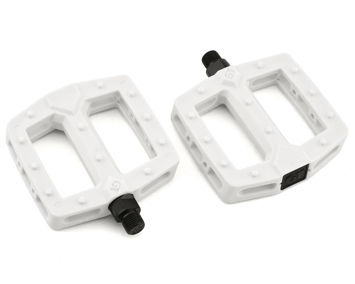 "GT PC Logo Pedals (White) (9/16"")"