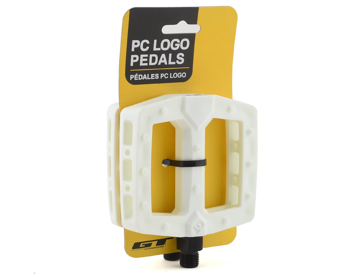 """Image 3 for GT PC Logo Pedals (White) (9/16"""")"""