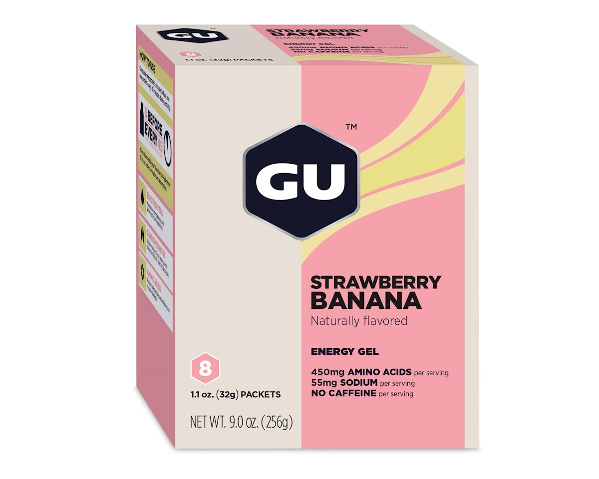 GU Energy Gel (Strawberry Banana) (8 1.1oz Packets)