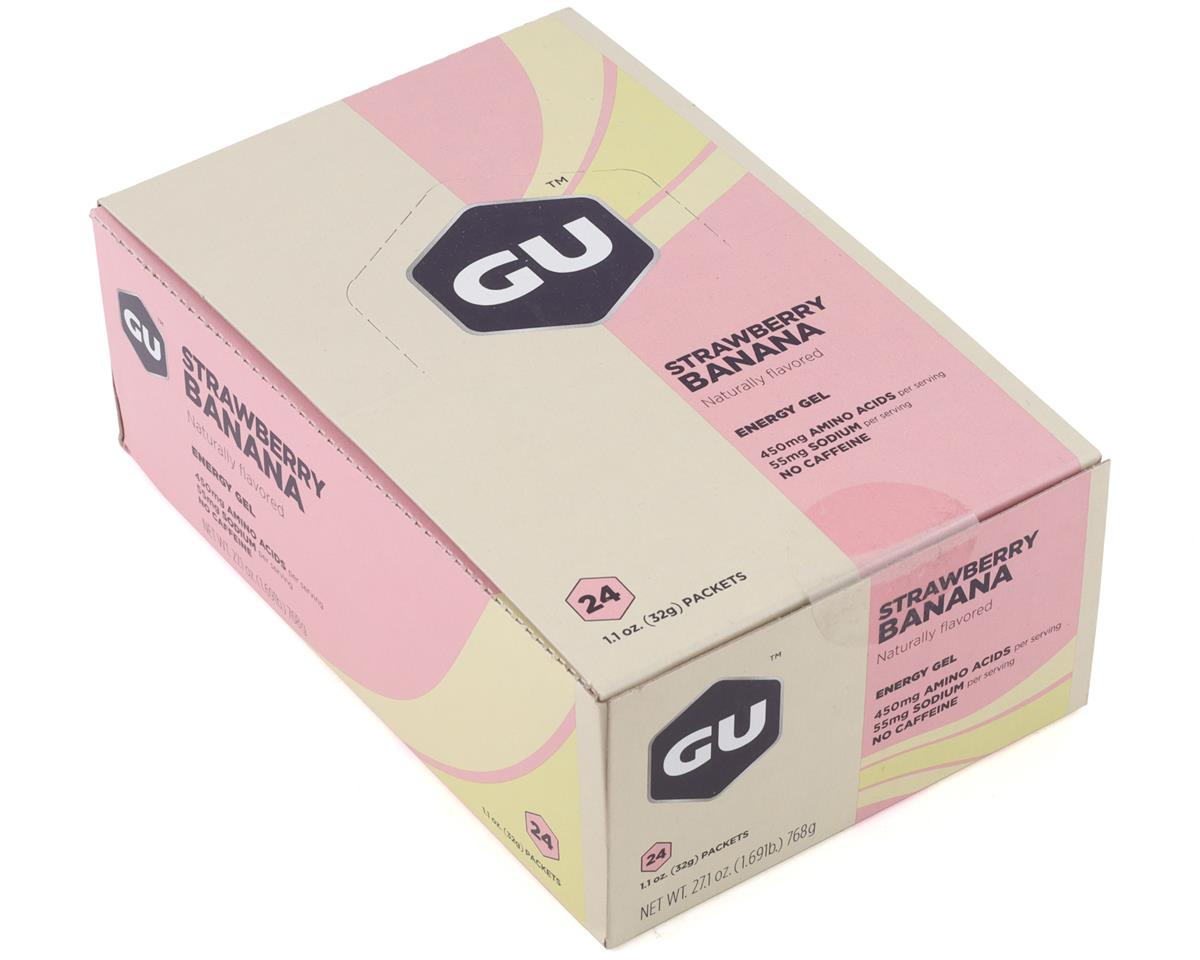GU Energy Gel (Strawberry Banana) (24 1.1oz Packets)