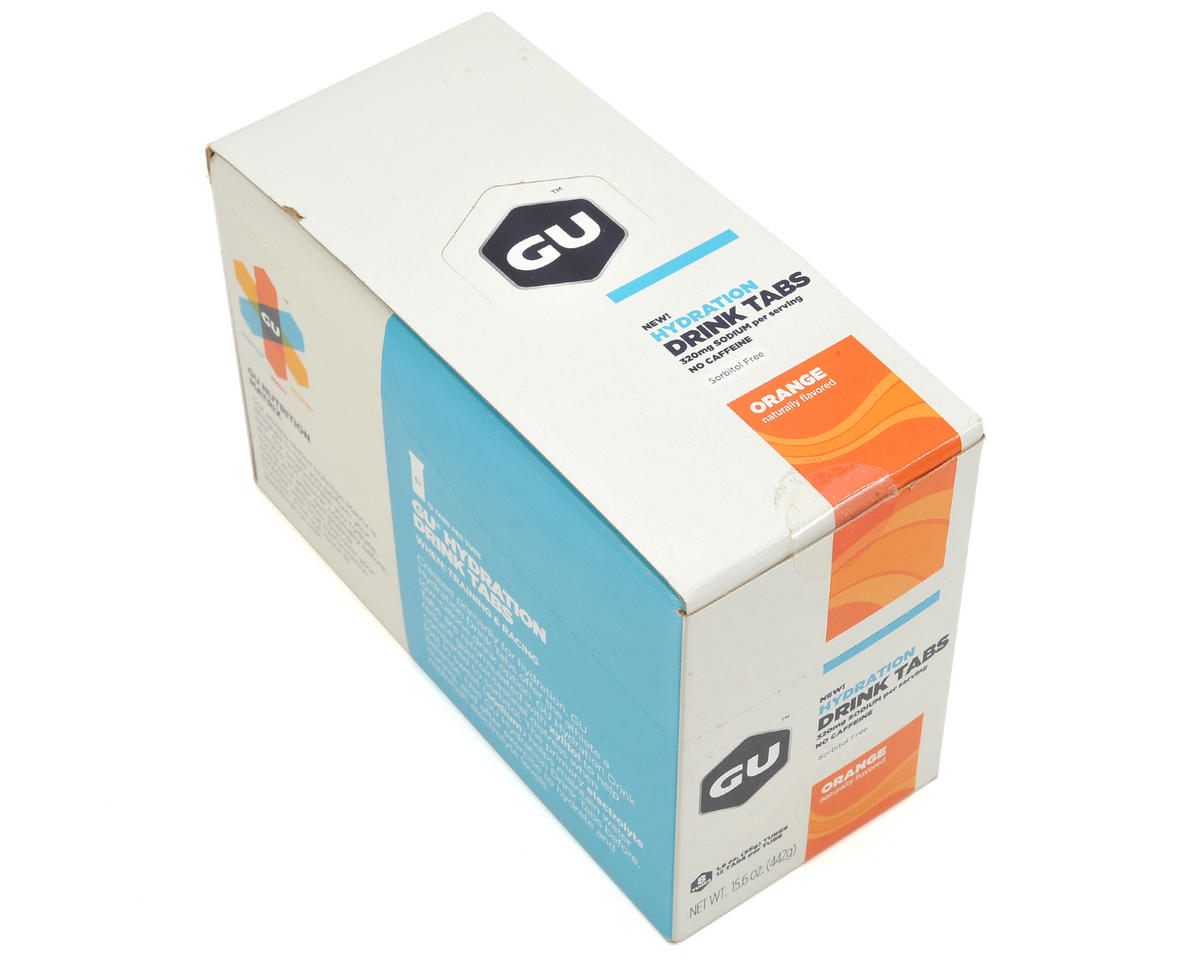 GU Hydration Drink Tablets (Orange) (8 Tubes)