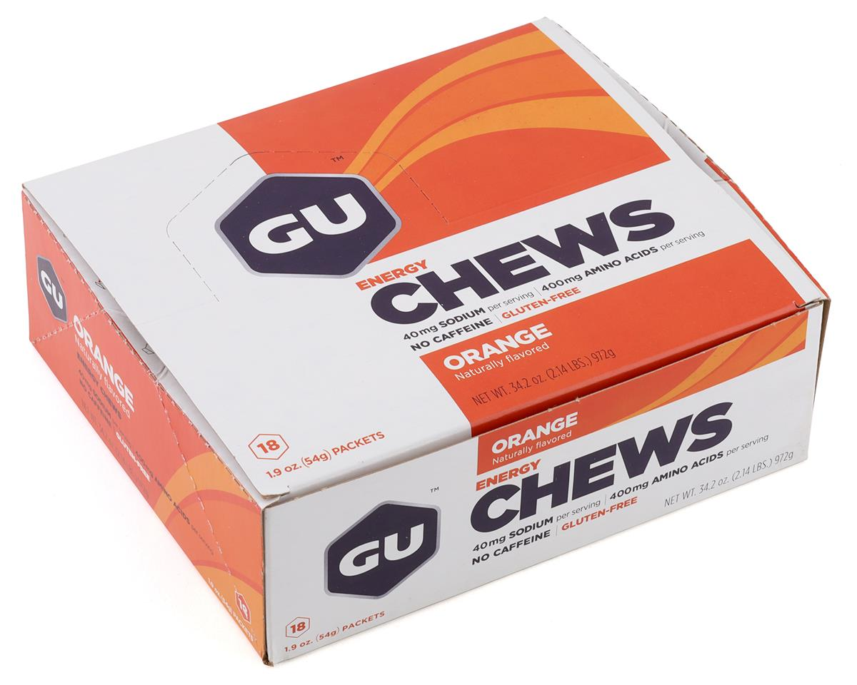 GU Energy Chews (Orange) (18 1.9oz Packets)