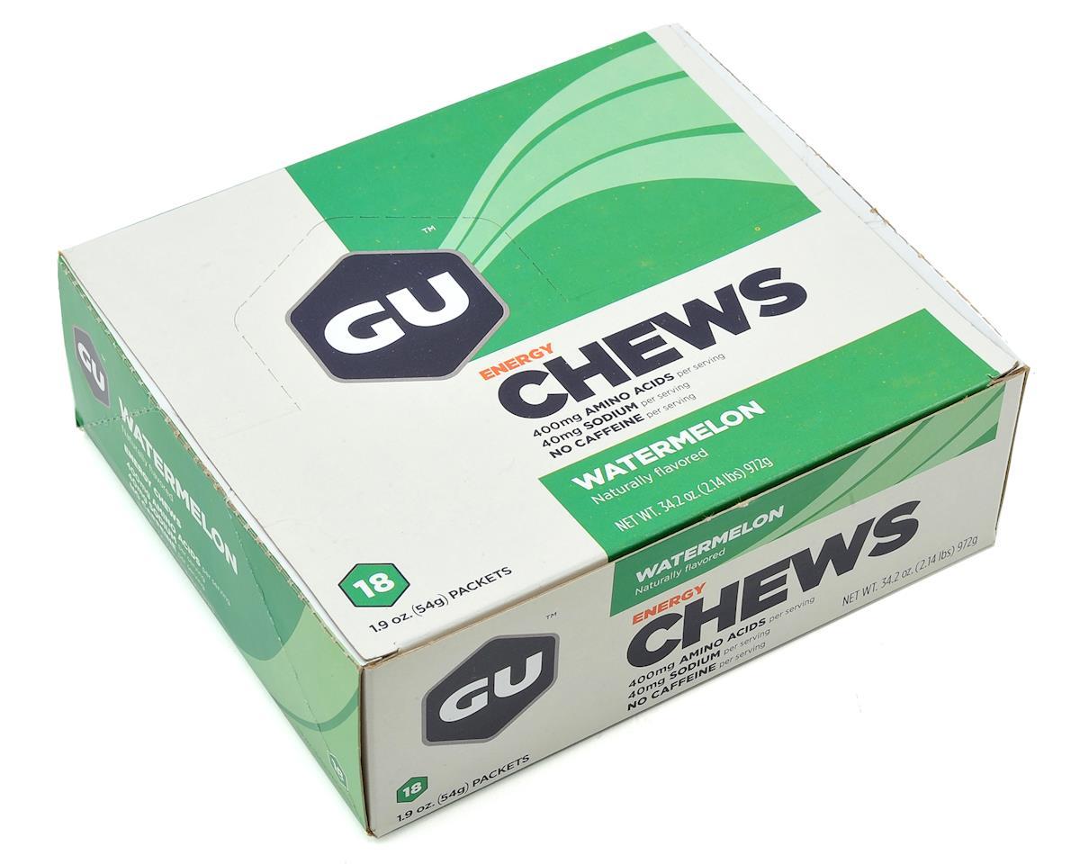 GU Energy Chews (Watermelon) (18 1.9oz Packets)