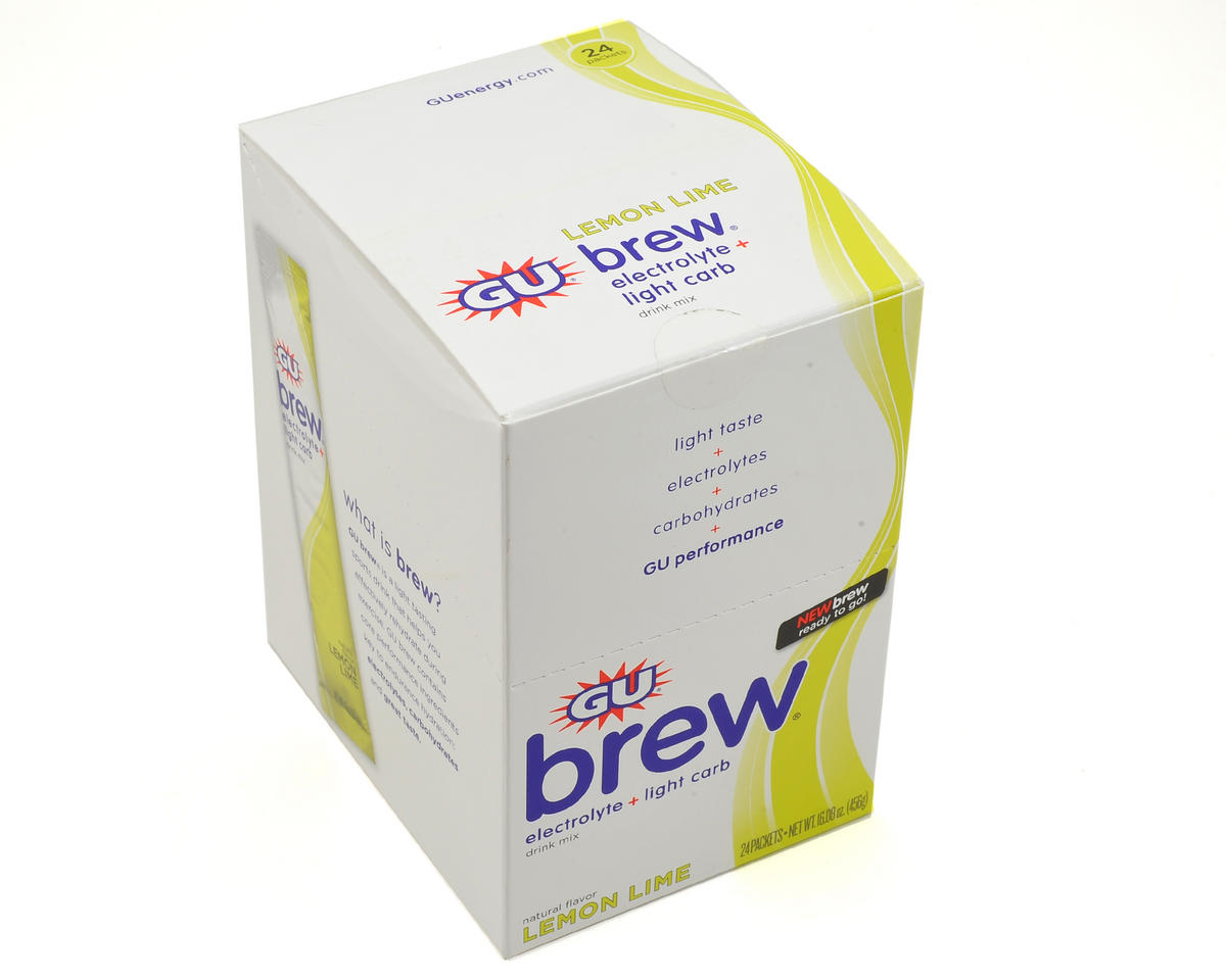 GU Electrolyte Brew Hydration Drink Mix (Box Of 24) (Lemon Lime)