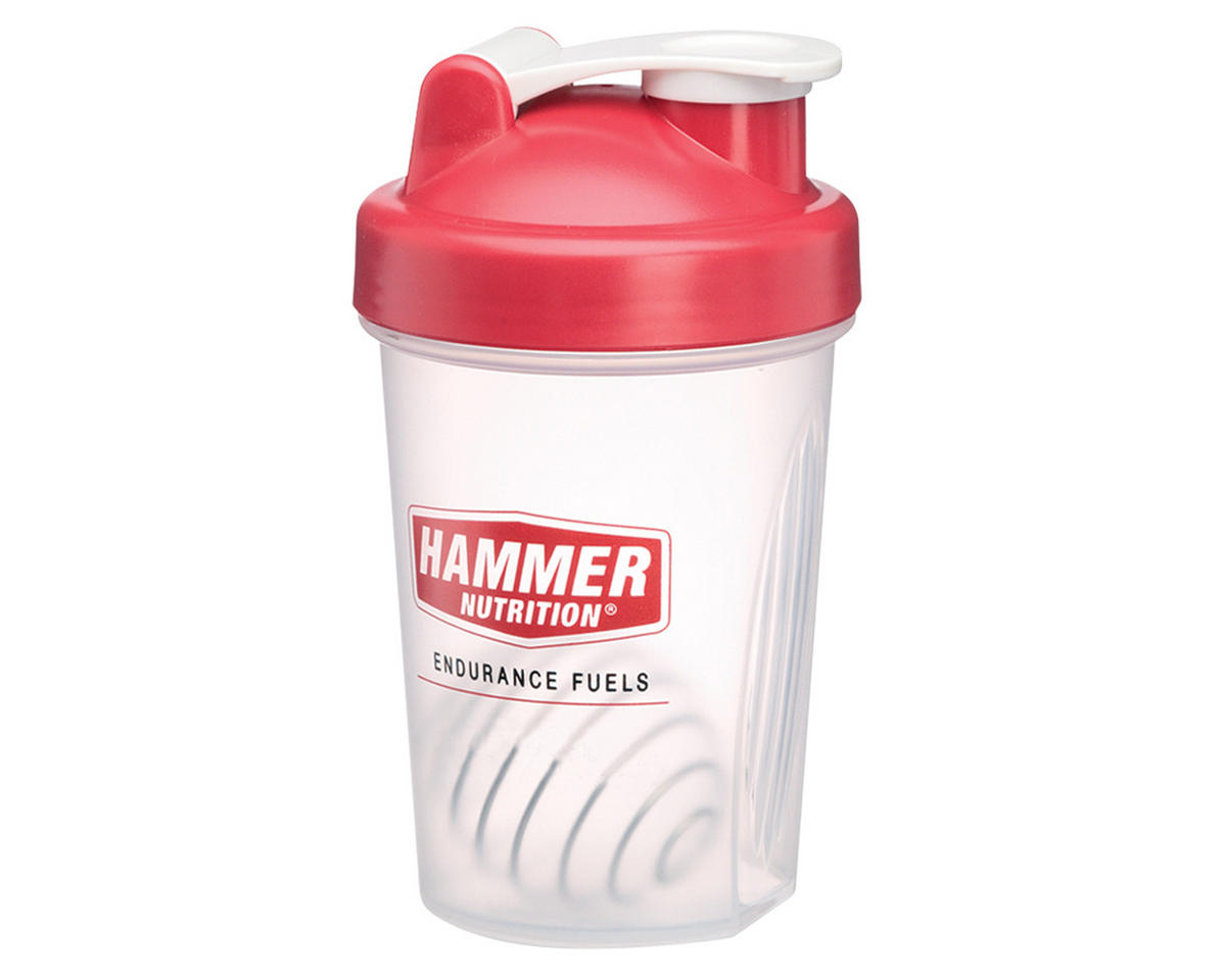 Hammer Nutrition Blender Bottle 20oz (Clear/Red)