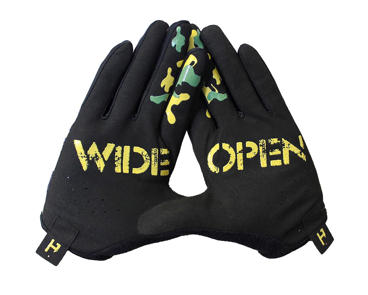 Handup Wide Open Gloves (Trad Camo - Olive/Green/Tan)