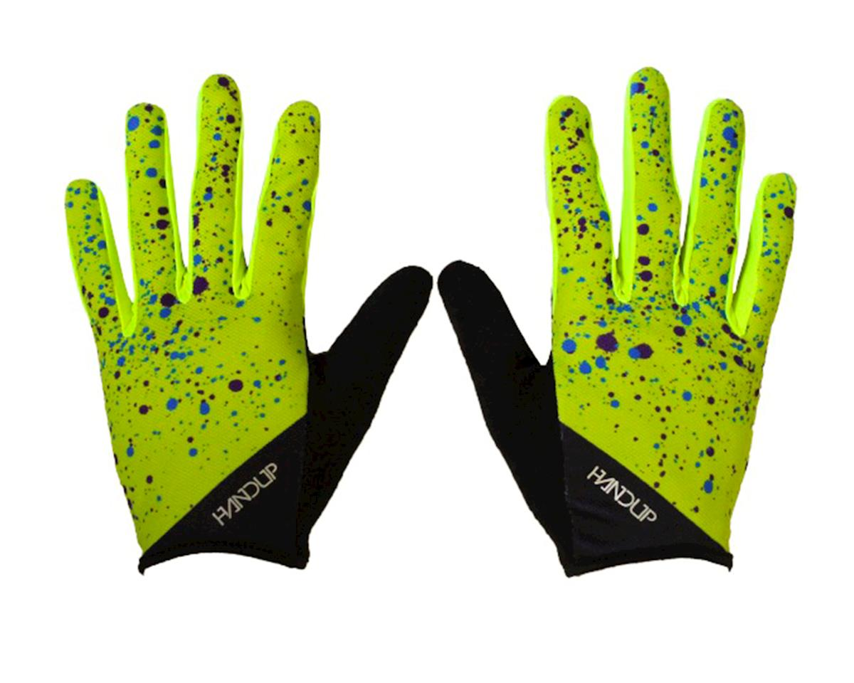 Braaap Gloves (Splatter - Hi Viz Yellow/Cyan)