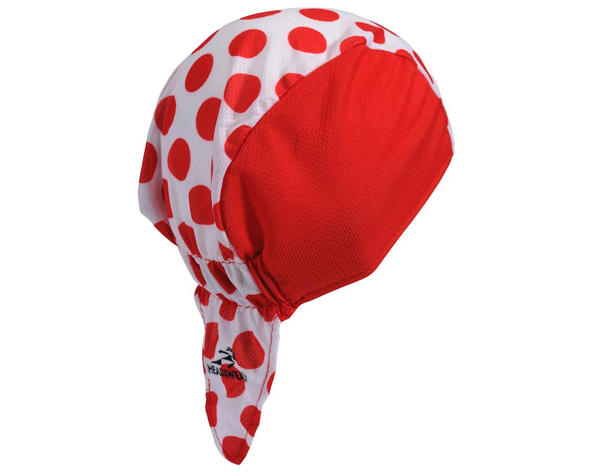 Headsweats Tour de France Red Polka Dot Skull Cap (Red/White) (One Size)