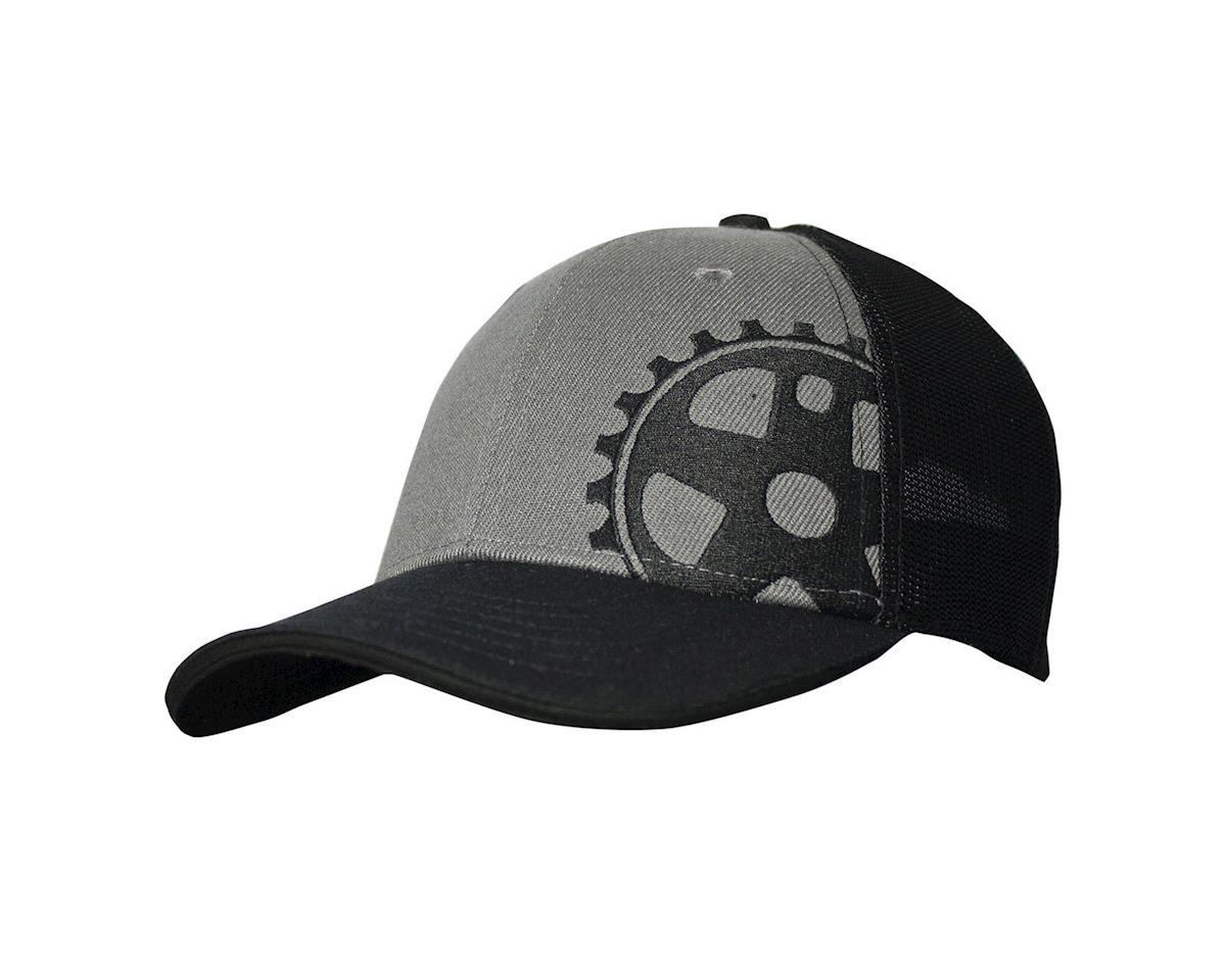 Headsweats Graphite Wool Crank 5-Panel Snapback Trucker Hat (Black/Grey)