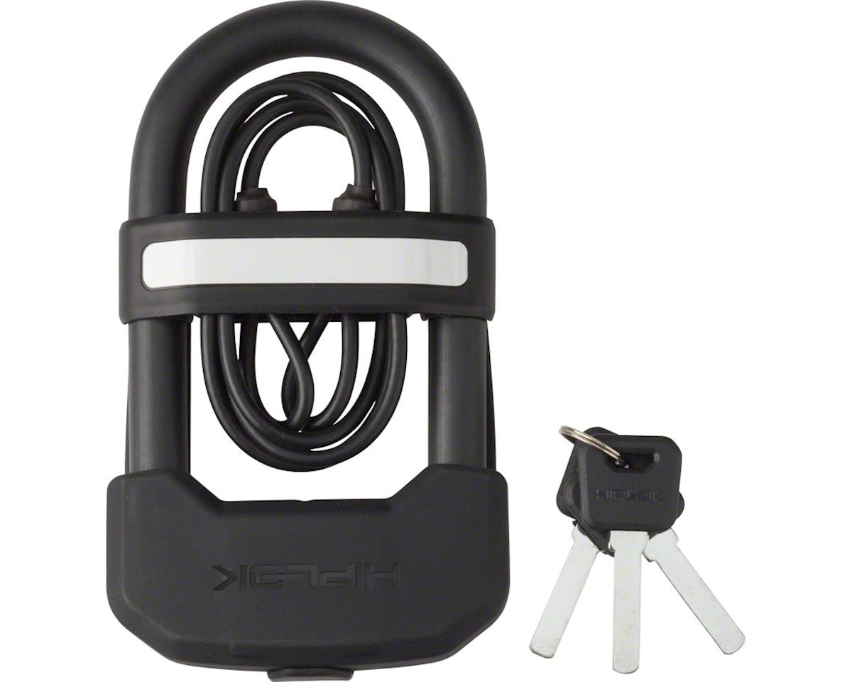 Hiplok DC Wearable Hardened Steel Shackle U-Lock with 1 Meter Cable: 13mm, Black