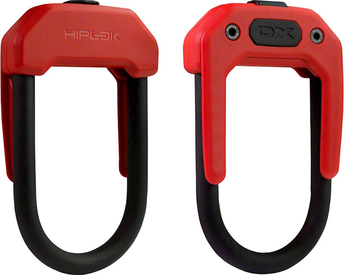 Hiplok DX Wearable Hardened Steel Shackle U-Lock: 14mm, Red