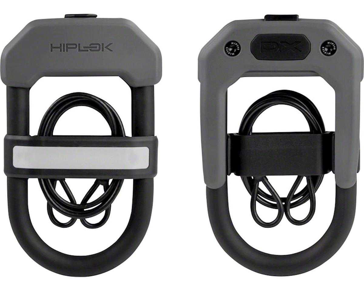 Hiplok DXC Wearable Hardened Steel Shackle U-Lock and Cable (Gray) (14mm)