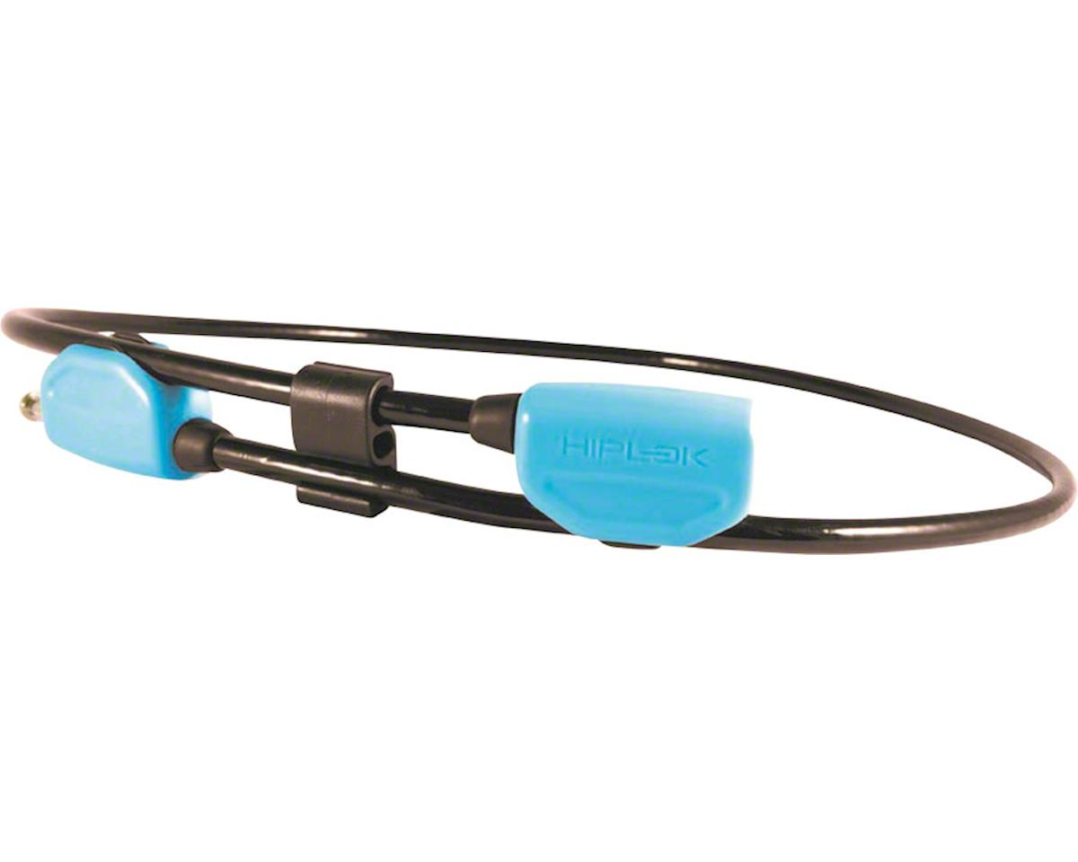 Hiplok POP Wearable Lock With Clip System: 6mm Cyan