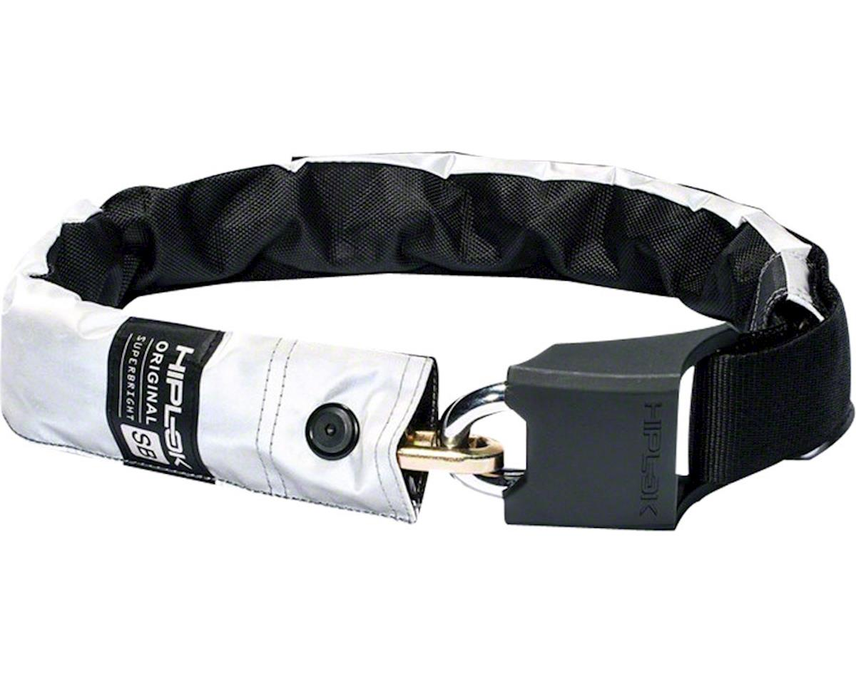 Hiplok Original Superbright Wearable Steel Chain Lock (White Reflective) (10mm)