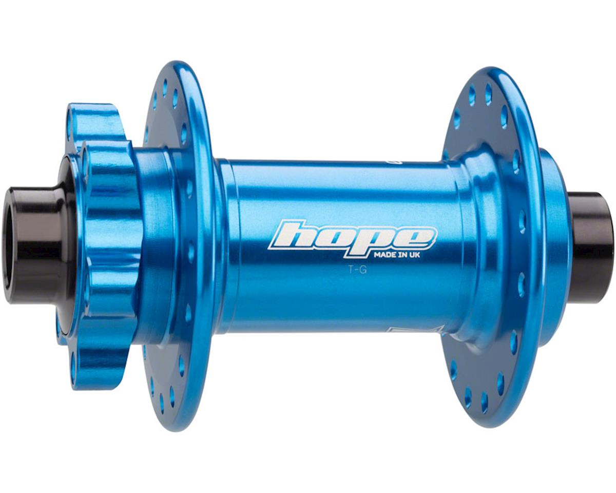 Hope Pro 4 Front Disc Hub (Blue) (32H) (15mm Boost Axle)
