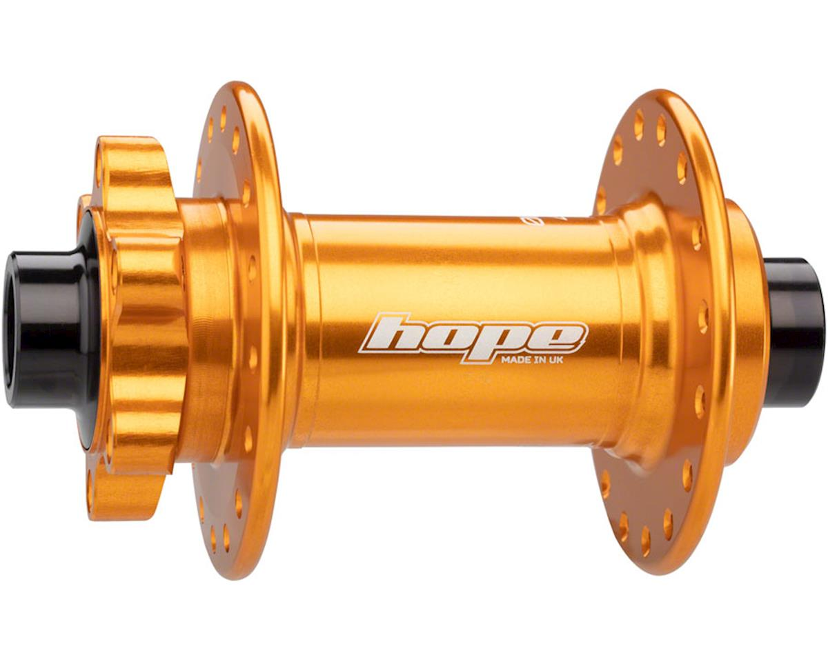 Hope Pro 4 Front Disc Hub (Orange) (32H) (15mm Boost Axle)