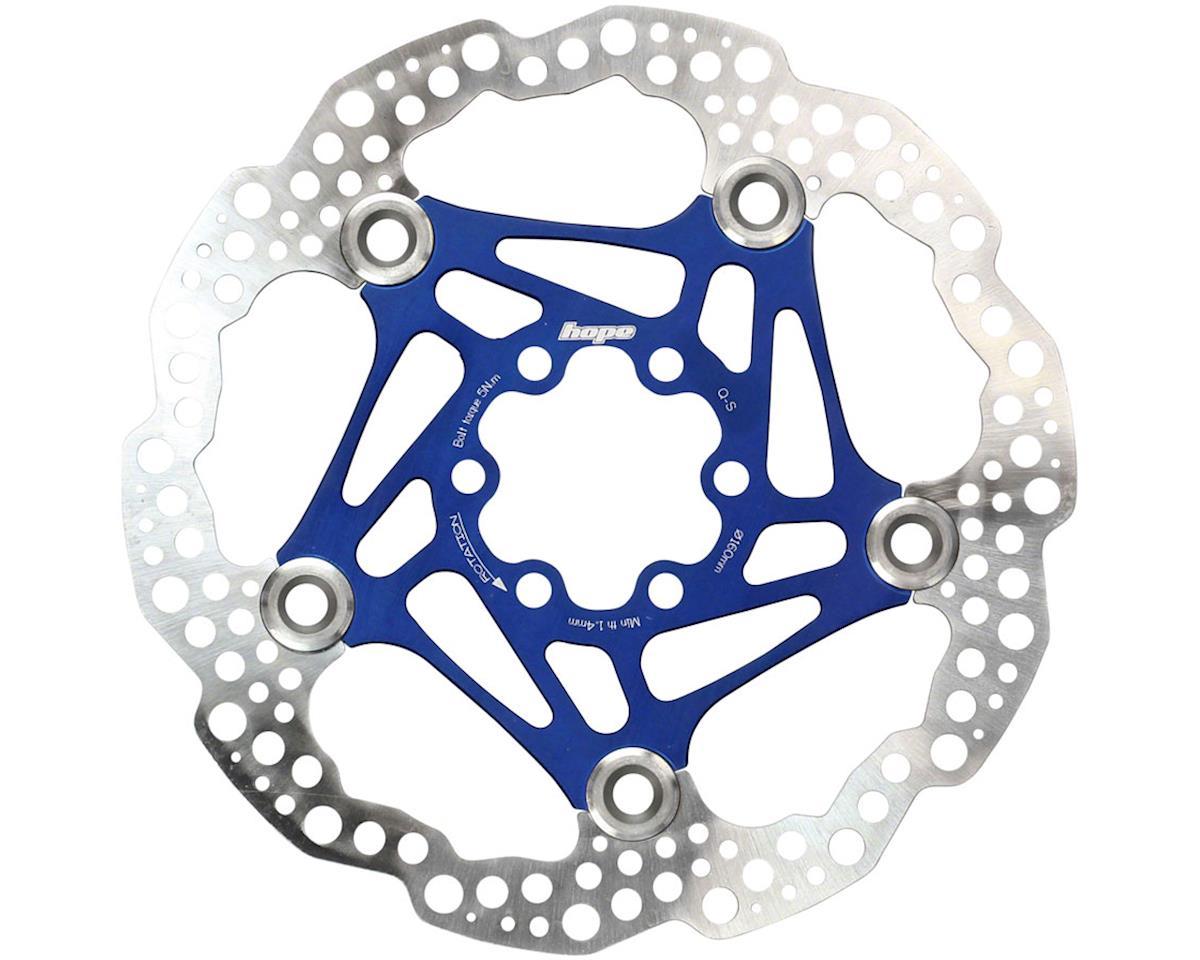 Hope Floating Disc Rotor (Blue) (160mm)
