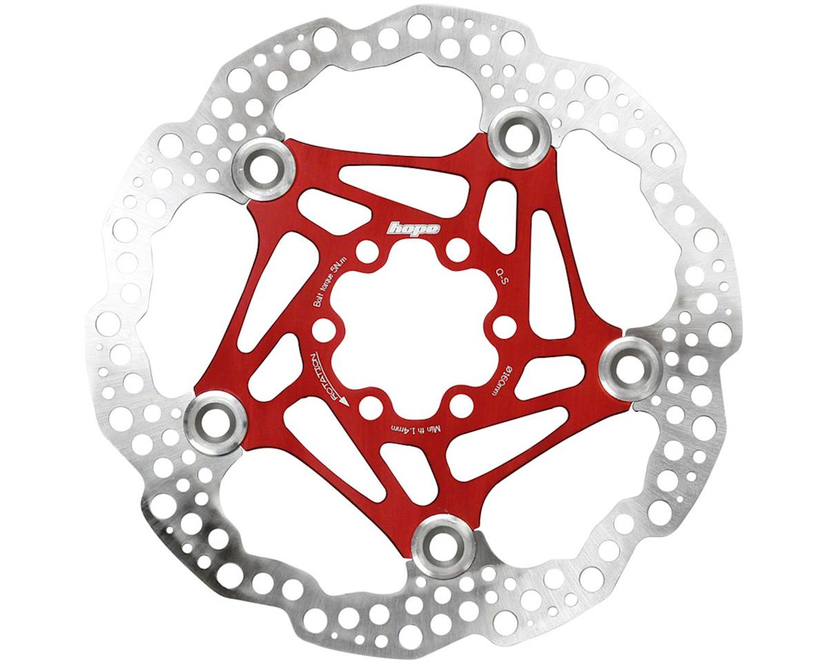 Hope Floating Disc Rotor (Red) (160mm)