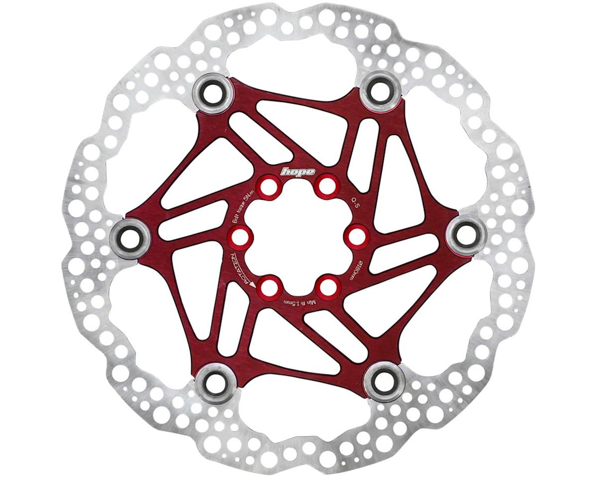 Hope Floating Disc Rotor (Red) (180mm)