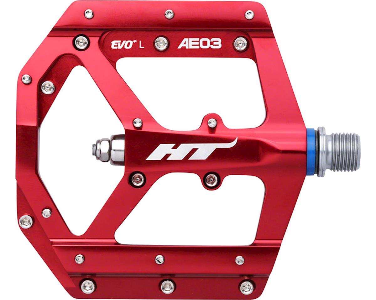 "HT AE03 (Evo+) Platform Pedal: 9/16"" Red"