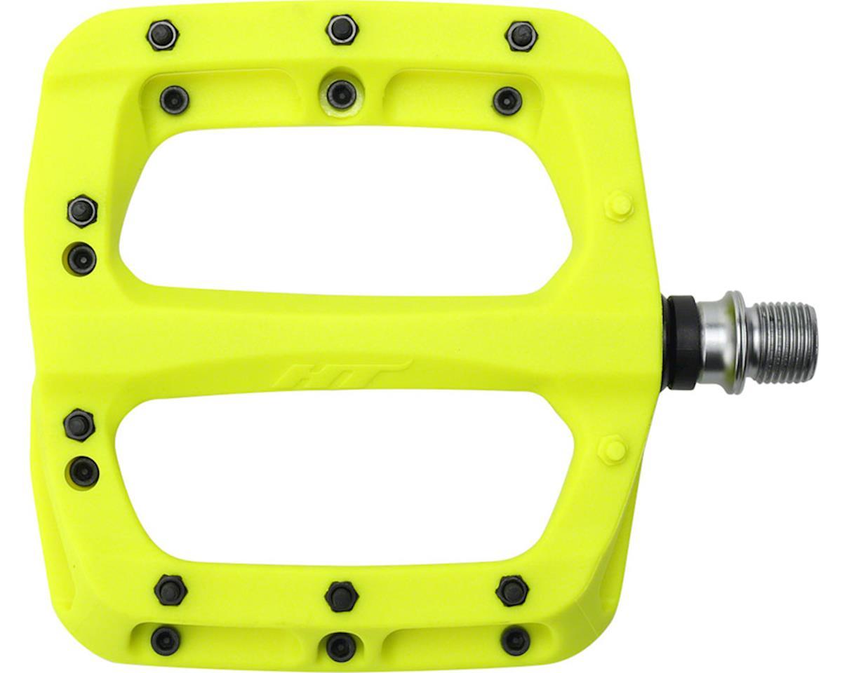 """HT PA03A Platform Pedal: 9/16"""" Neon Yellow"""