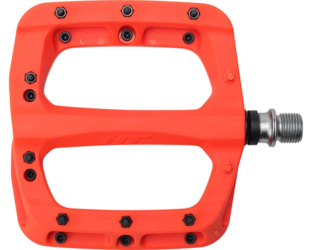 """HT PA03A Platform Pedal: 9/16"""" Neon Orange"""
