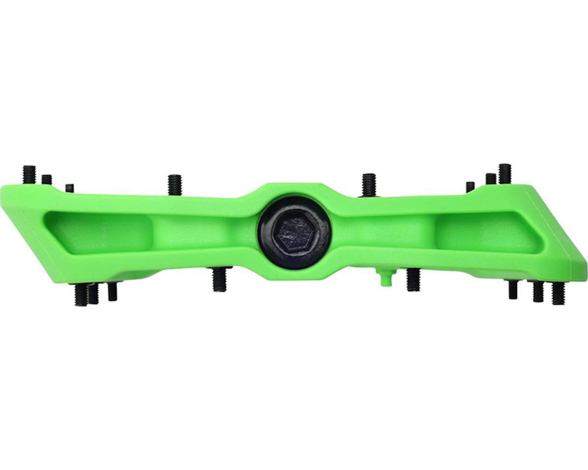 """HT PA03A Platform Pedal: 9/16"""" Green"""