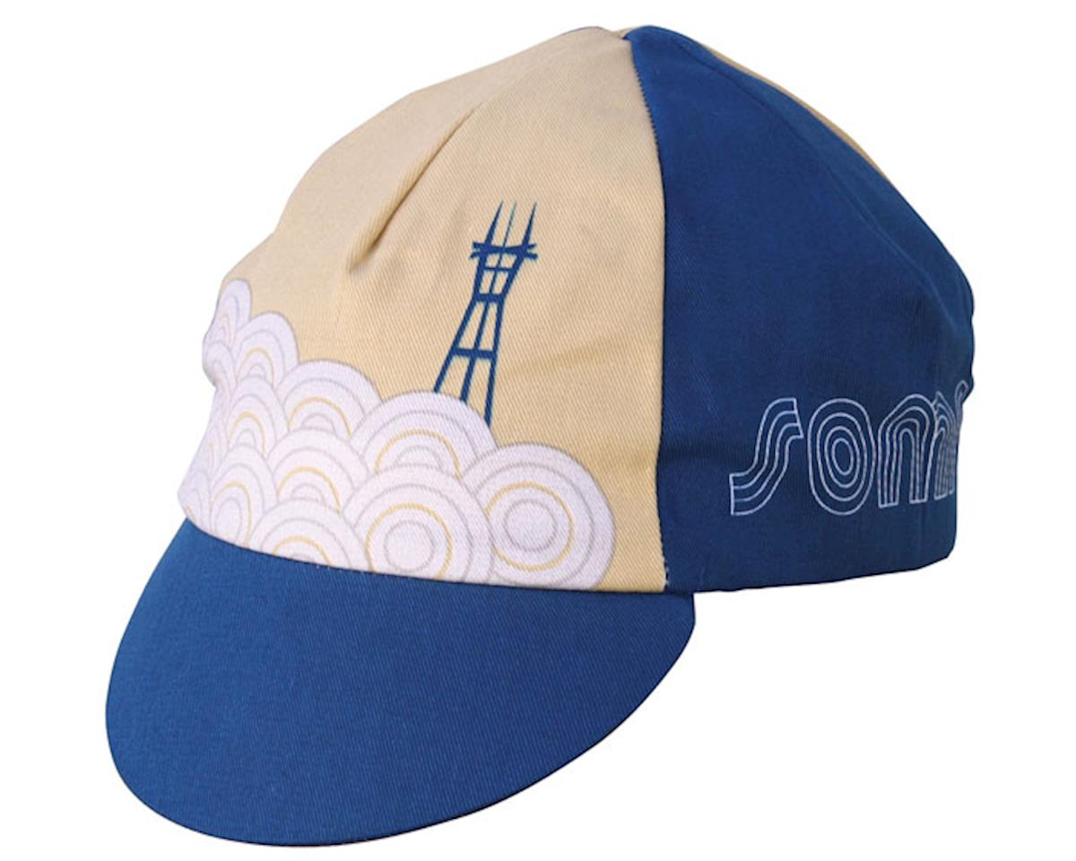 IDG Soma Sutro Cycling Cap (Navy Blue/Tan)