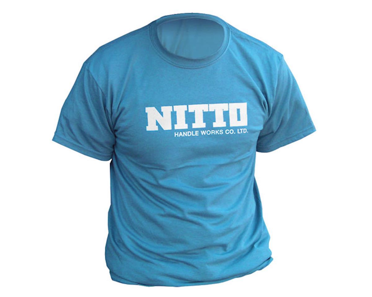 IDG Nitto logo t-shirt, cyan blue (M)