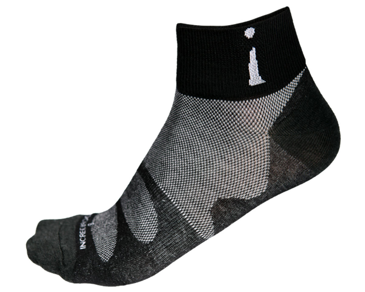 Incrediwear PRO-3 Down Low Thin Sports Socks (Black) (L)