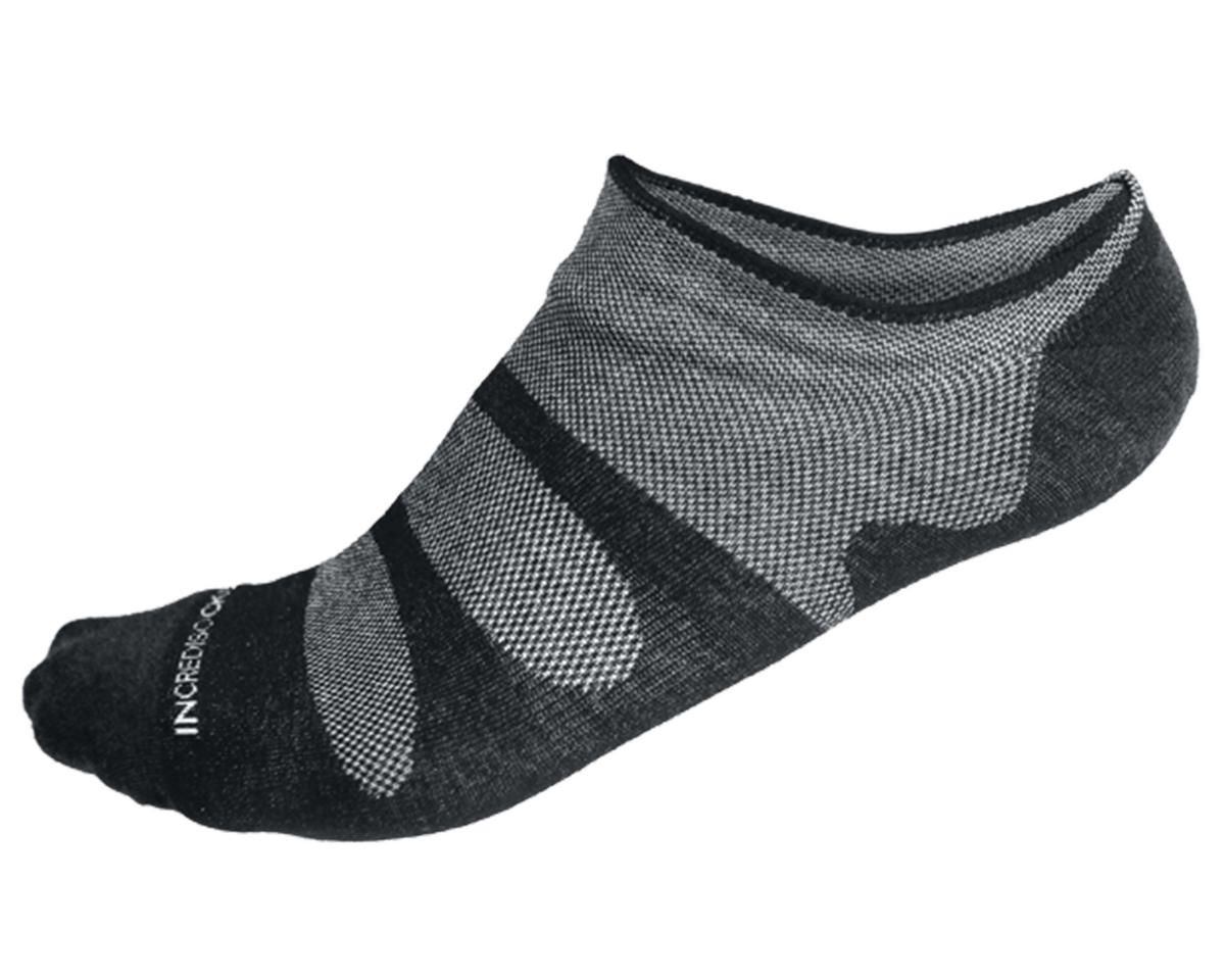 Incrediwear PRO-3 No-Sho Thin Sports Socks (Black) (M)