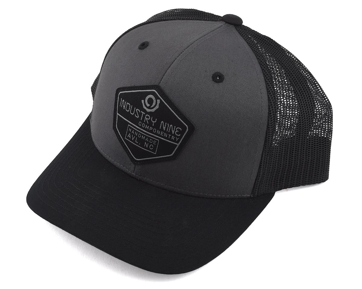 4a92dbf93051e Industry Nine Mesh Back Twill Front Trucker Hat (Charcoal Black)  CLHAT003