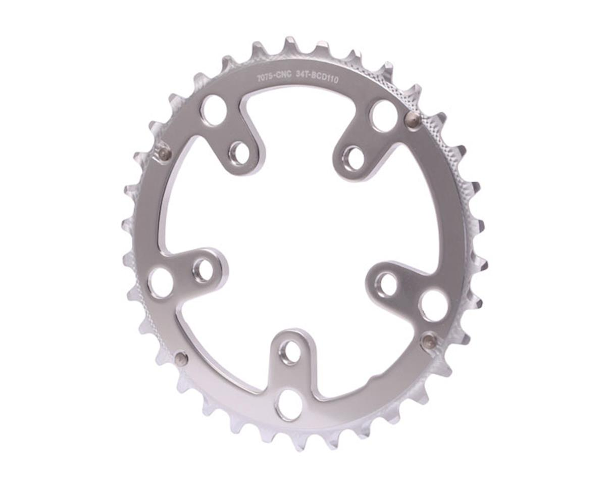 Interloc Racing Design Defiant chainring, 5x110BCD, 34t - silver