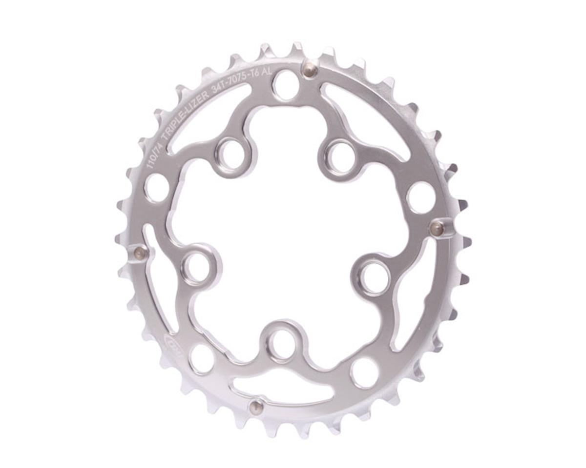 Interloc Racing Design Triplizer chainring, 5x74/110BCD, 36t - silver