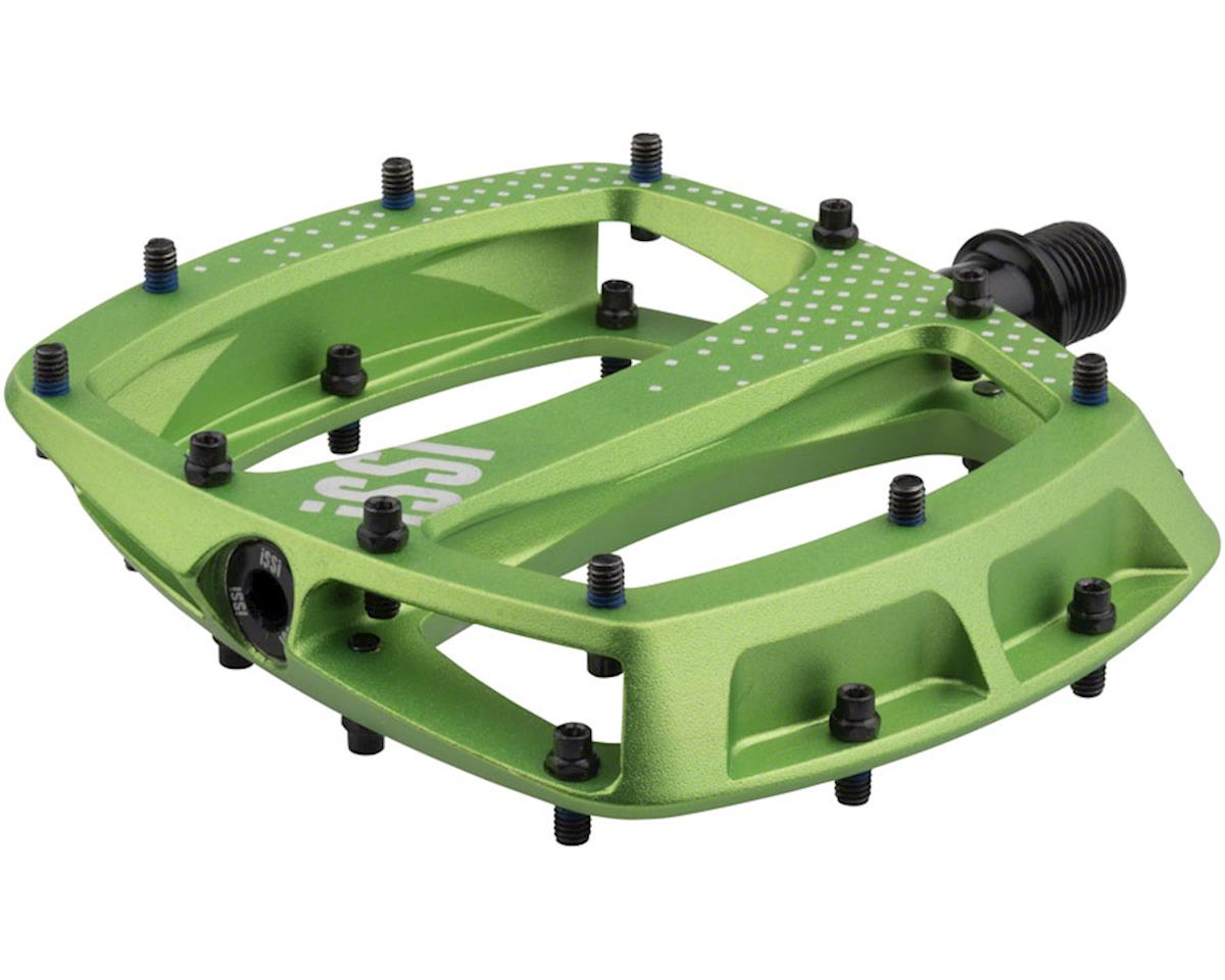 "iSSi Stomp XL Flat Pedals (Lime - Sandblasted Anodized) (9/16"")"