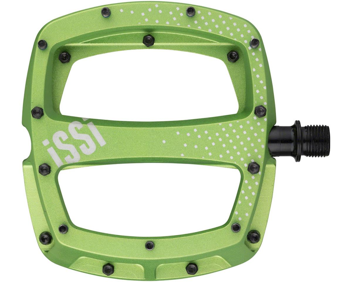 iSSi Stomp XL Flat Pedals (Lime - Sandblasted Anodized)