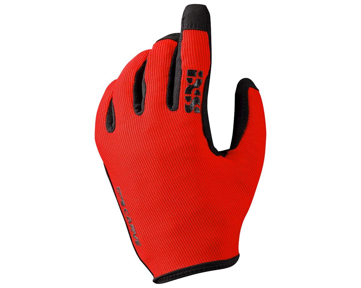 iXS Carve Gloves (Flue Red) (S)