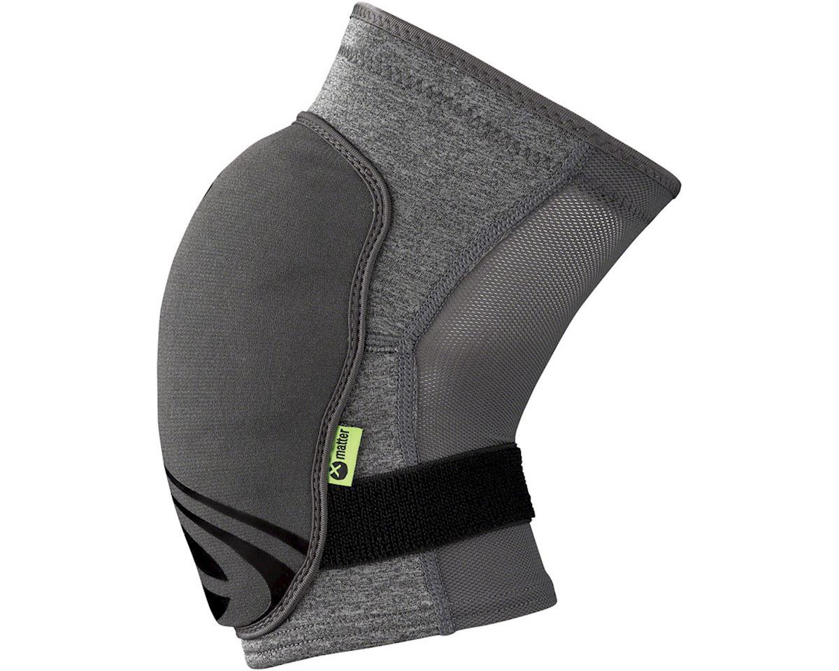 iXS Flow ZIP Knee Pads: Gray XL (L)