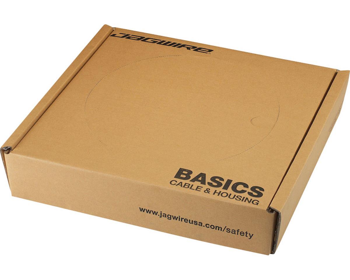 Jagwire 4mm Basics Derailleur Housing 200M Shop Box with End Caps, Black
