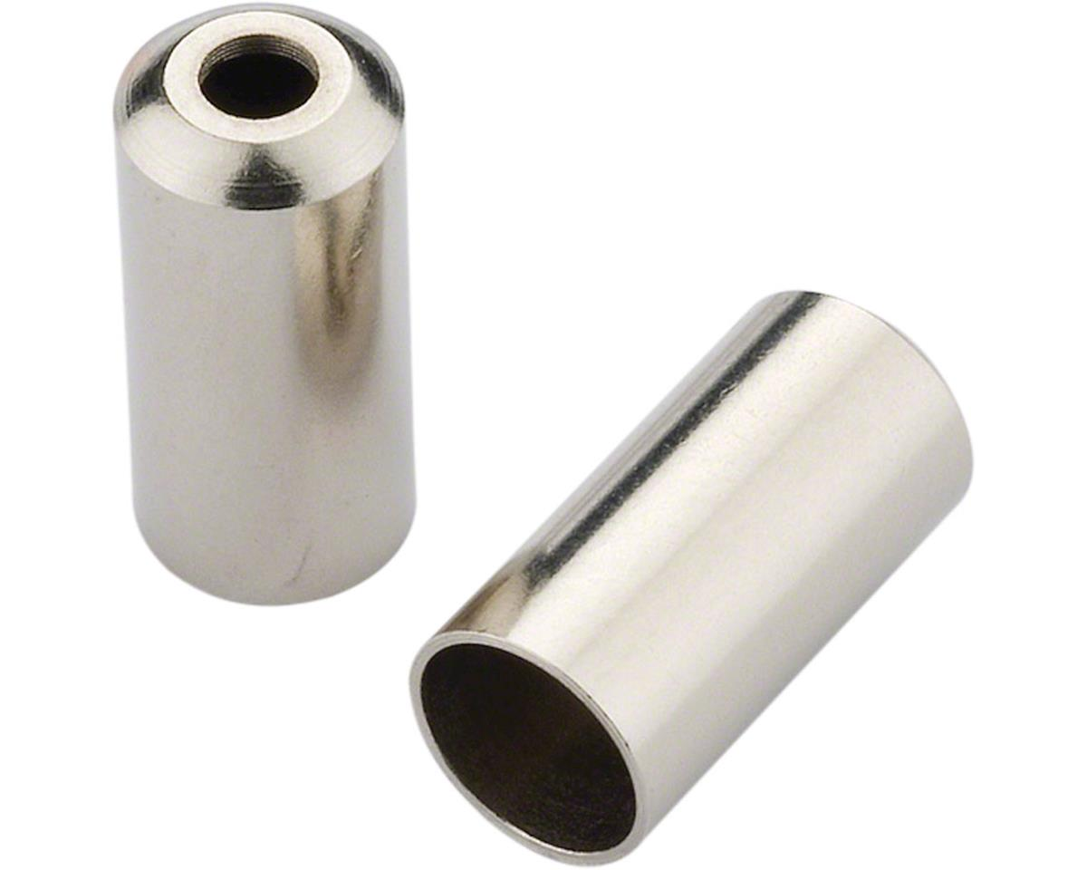 Jagwire 5mm Open End Caps Bottle of 200, Chrome Plated