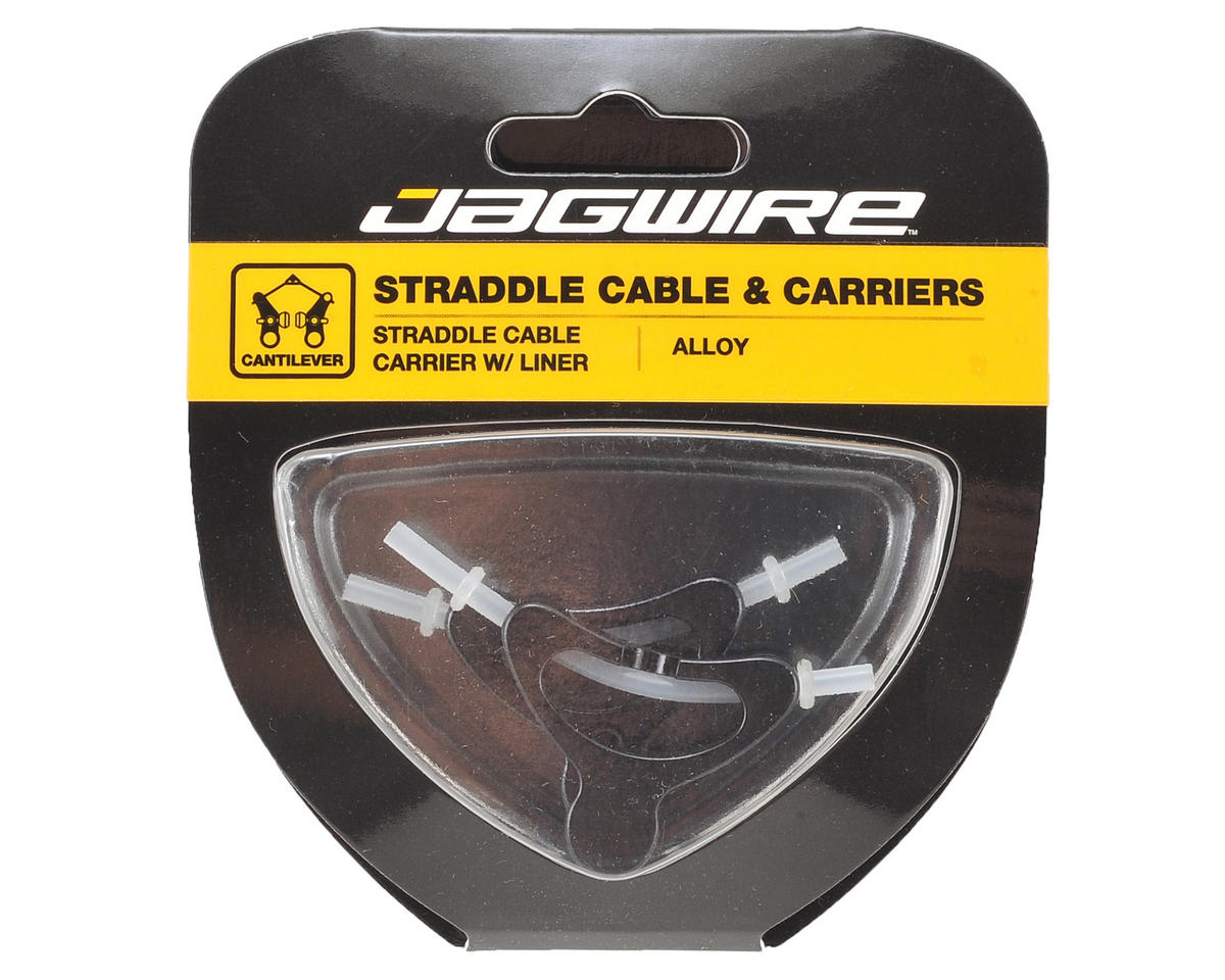 Jagwire Alloy Straddle Brake Cable Carrier (Black) (Pair)
