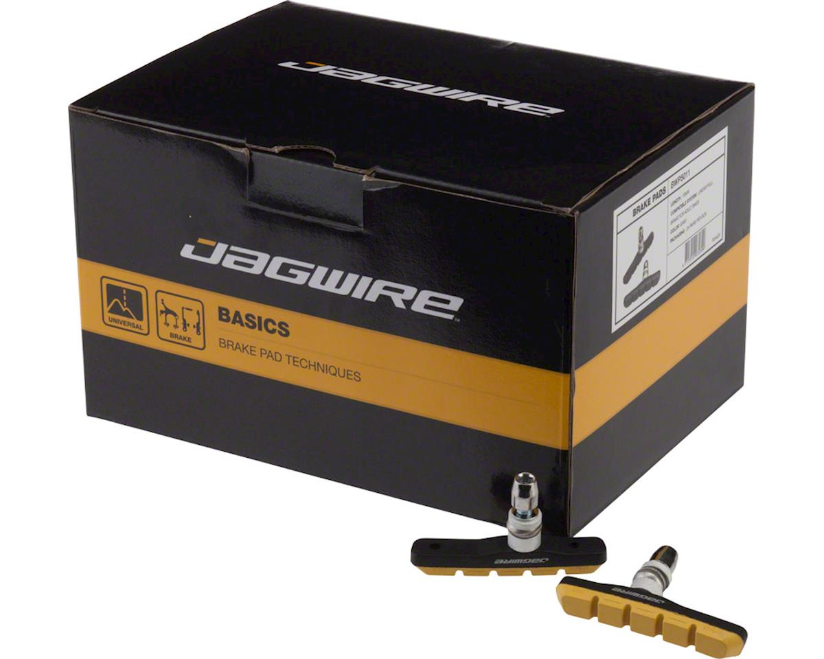 Jagwire Mountain Sport Brake Pads Threaded Post Box of 25 Pair, Yellow