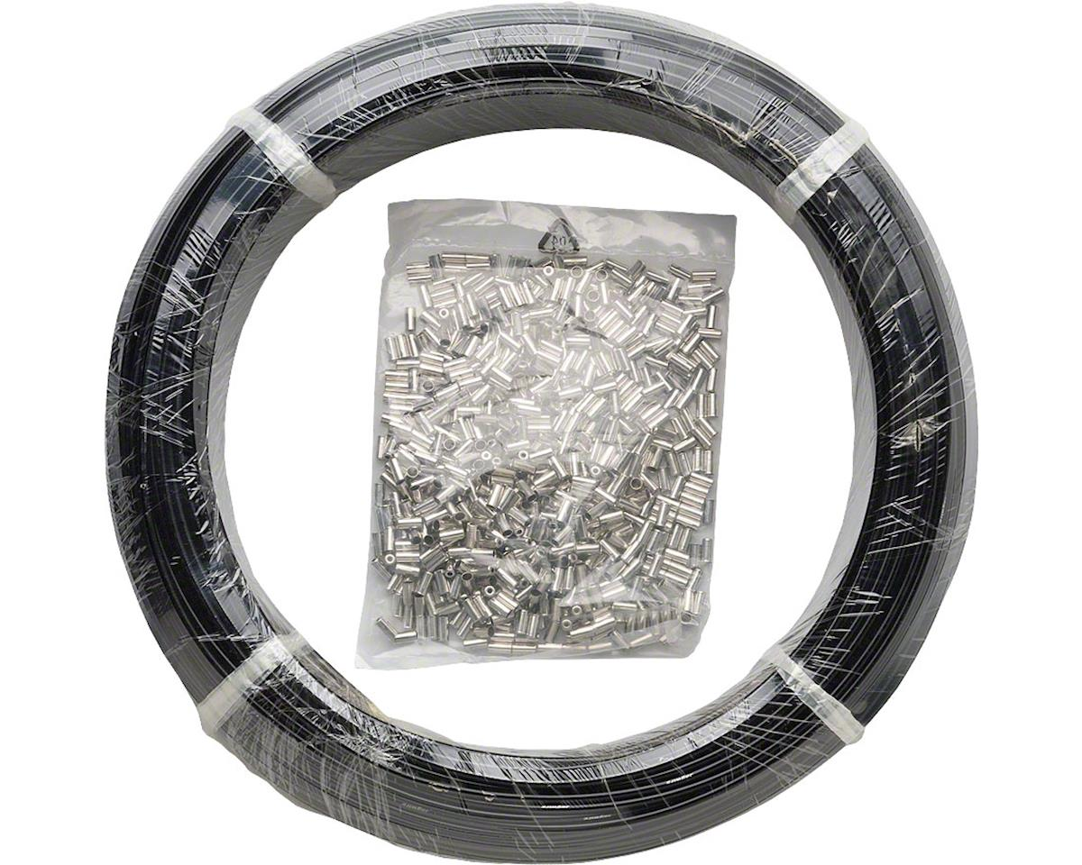 Jagwire 5mm Basics Brake Housing 200M Shop Box with End Caps, Black