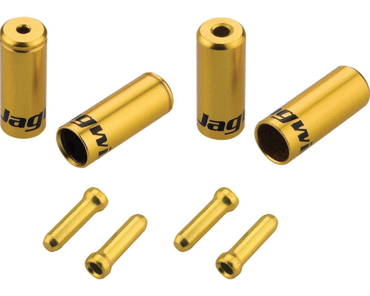 Jagwire End Cap Hop-Up Kit 4.5mm Shift and 5mm Brake, Gold