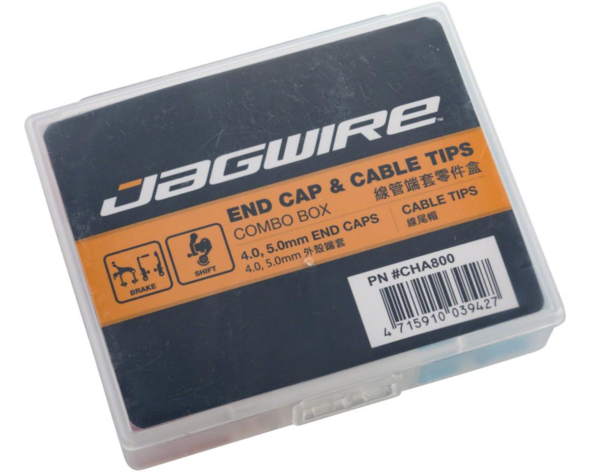 Jagwire Housing End Cap Combo Kit Red / Silver / Blue Alloy