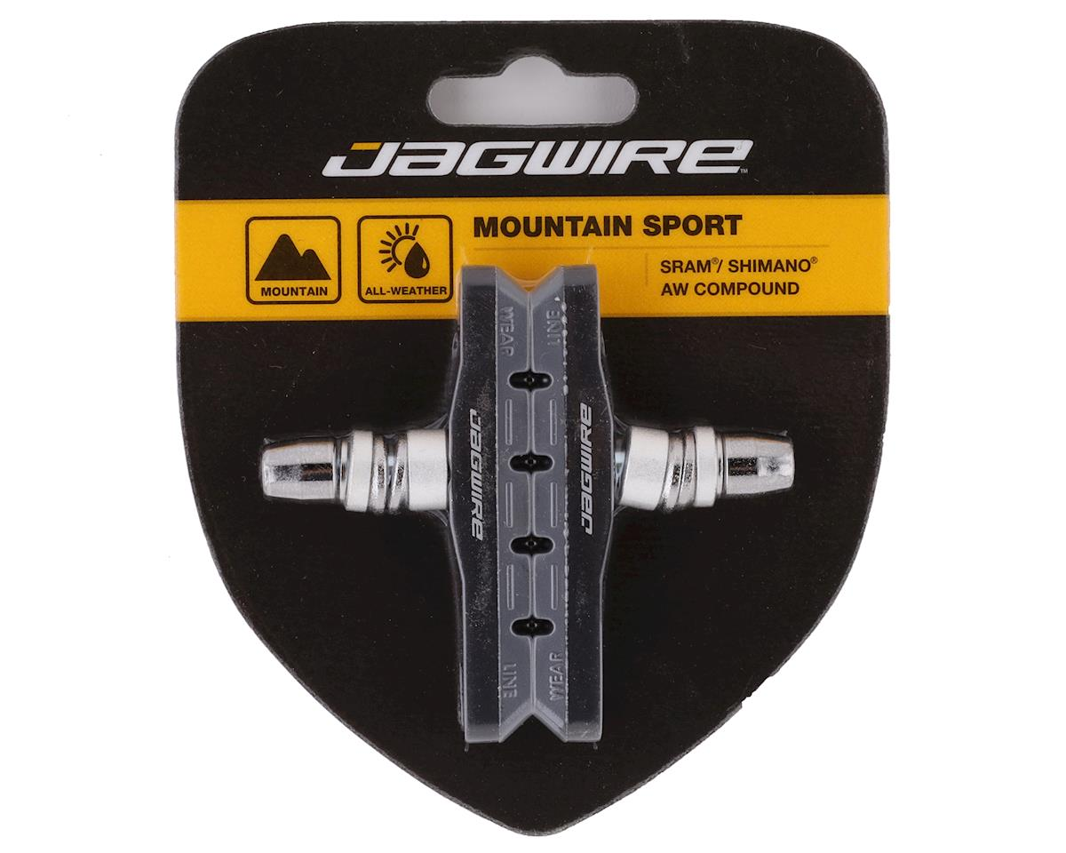 Jagwire Mountain Sport Brake Pads Threaded Post Gray