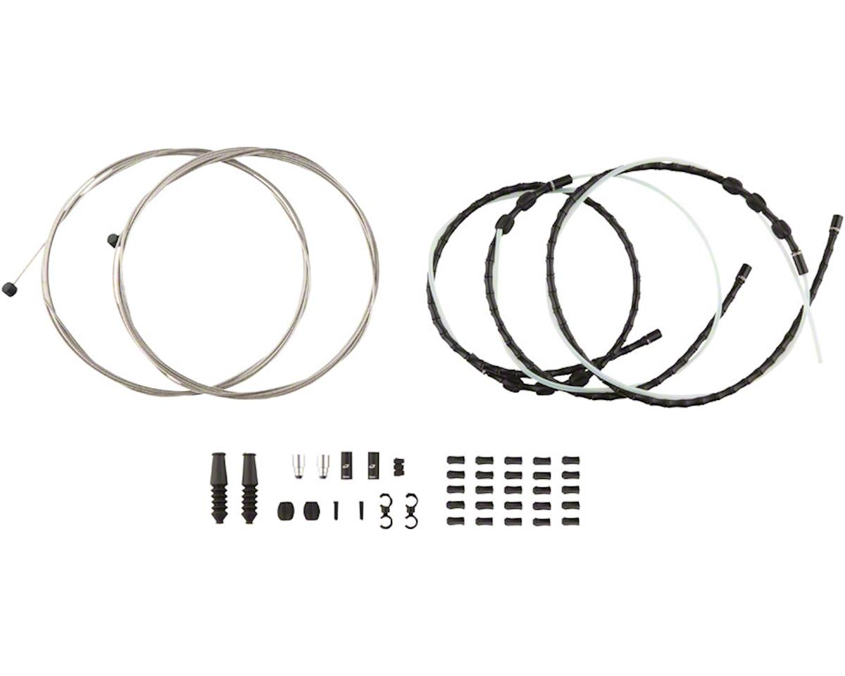 Jagwire Mountain Elite Link Brake Cable Kit with Ultra-Slick Uncoated Cables, Bl