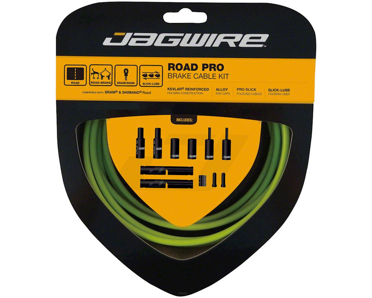 Jagwire Pro Brake Cable Kit Road SRAM/Shimano, Organic Green