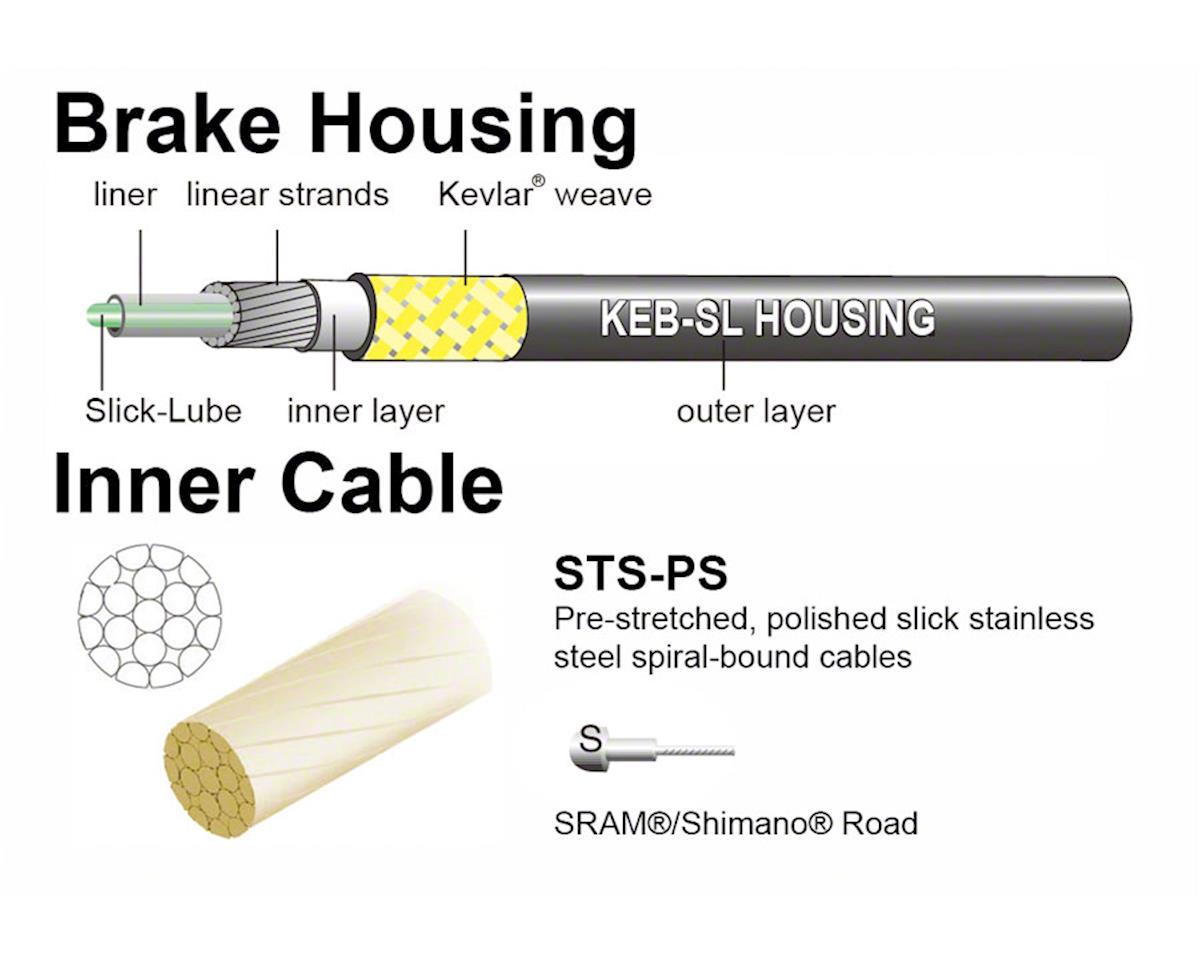 Jagwire Pro Brake Cable Kit Road SRAM/Shimano, Orange