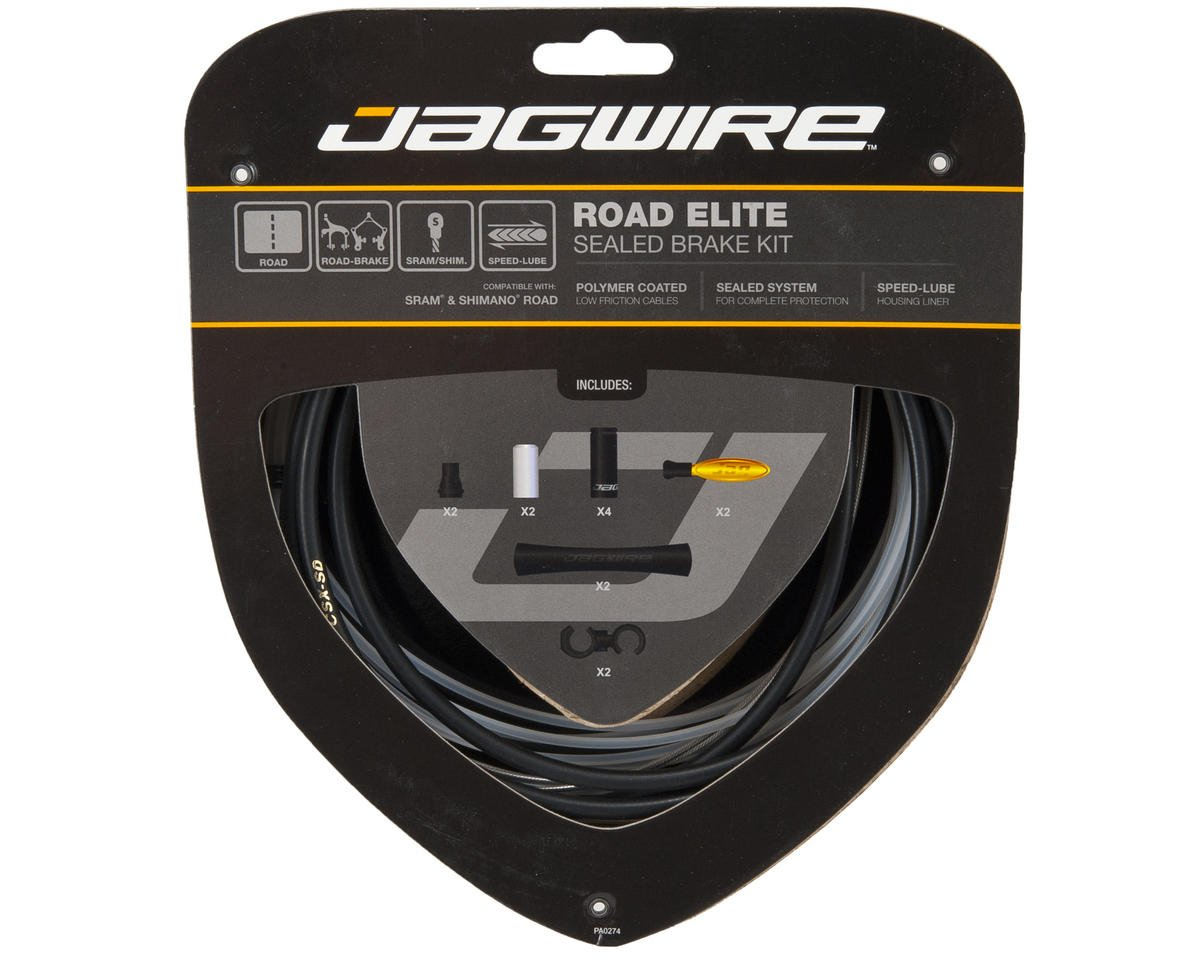 Jagwire Road Elite Sealed Brake Kit (Black)